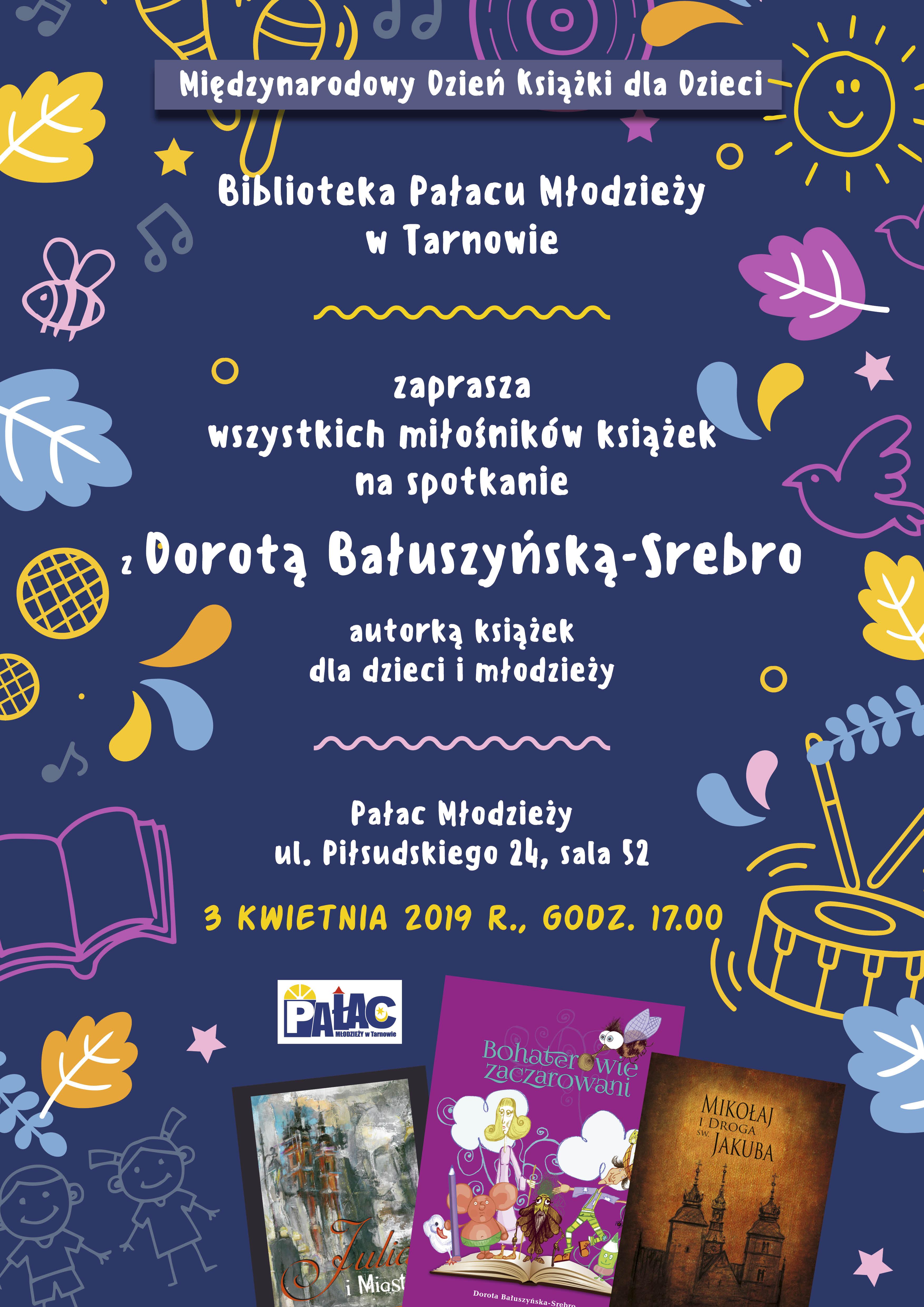 fe073c664e Biblioteka Pałacu Młodzieży serdecznie zaprasza na spotkanie z autorką  książek dla dzieci